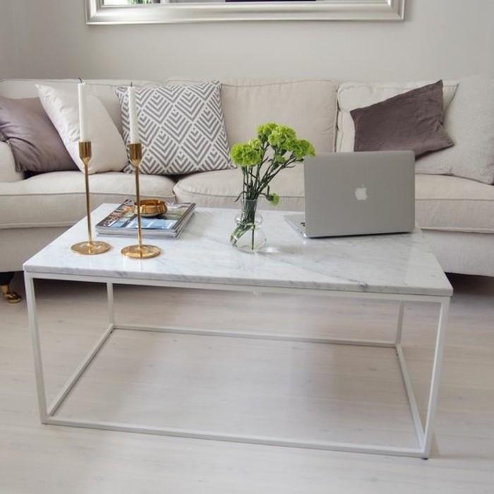 Table basse en marbre 58 id es pour donner du style au salon for Table basse marbre blanc