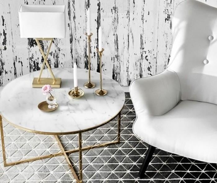 Table Basse En Marbre 58 Idees Pour Donner Du Style Au Salon