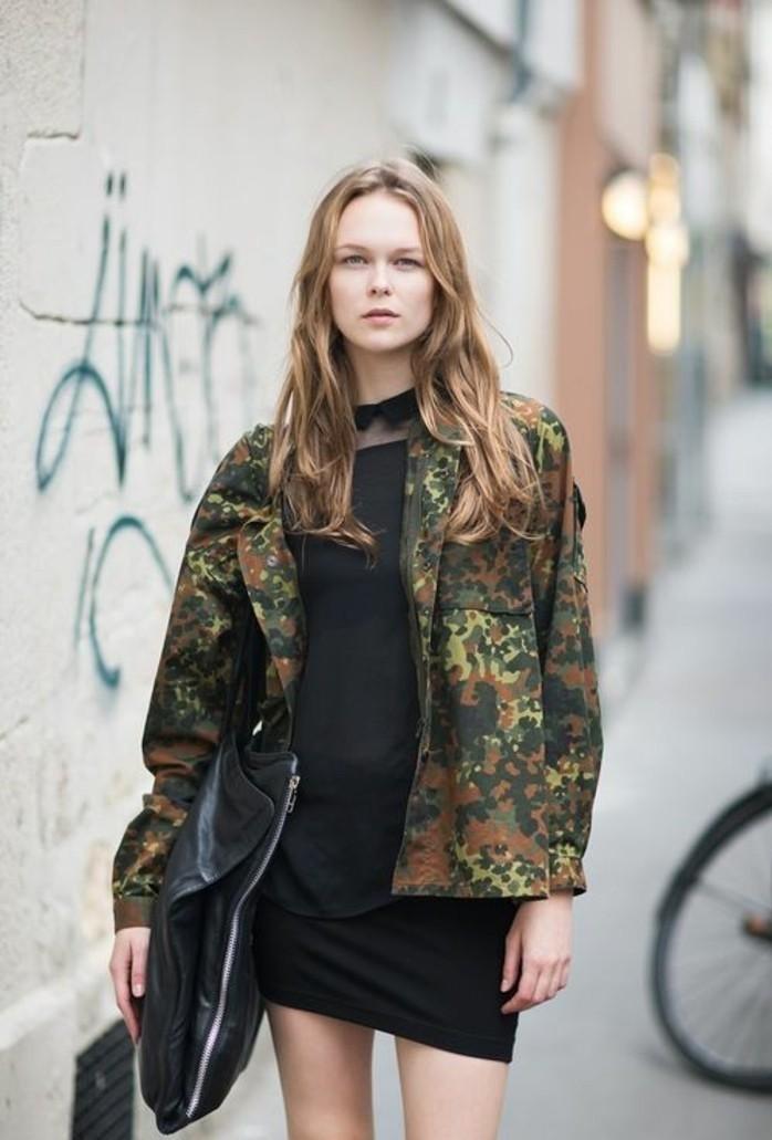 veste camouflage femme les tendances actuelles en