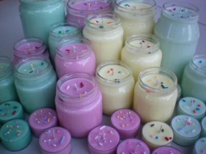 bougies parfumées décoratives, idée comment fabriquer une bougie ...