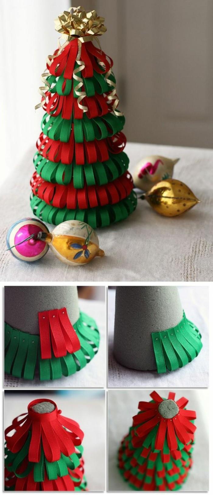 un-joli-sapin-de-noel-decoratif-fait-de-petites-bandes-de-feutrine-deco-noel-a-fabriquer-suggestion-sympa