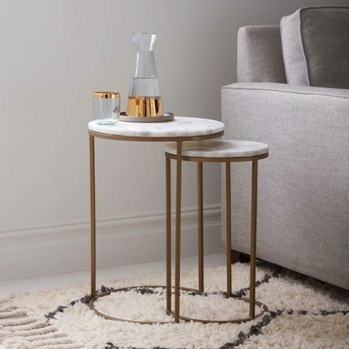 Table Basse En Marbre 58 Id Es Pour Donner Du Style Au Salon