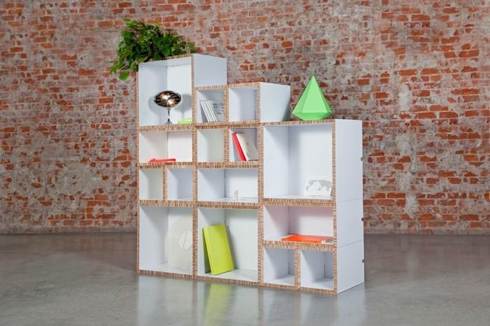 Meuble en carton 60 id es que vous pouvez r aliser vous - Comment fabriquer une bibliotheque ...