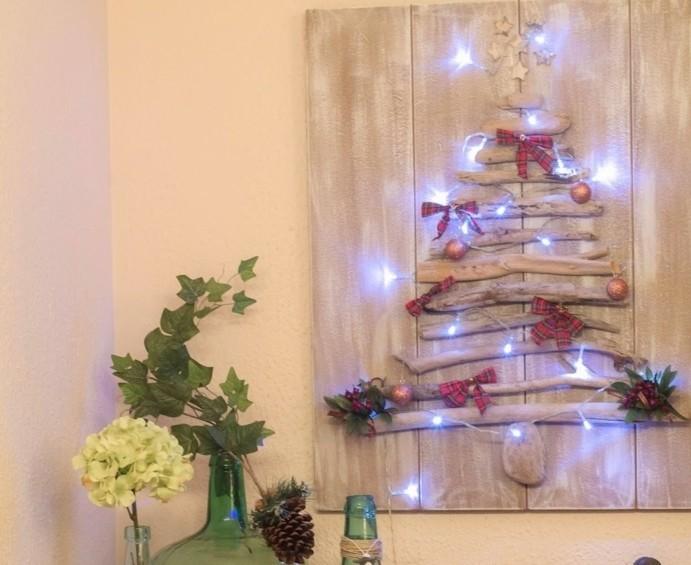 Sapin en bois flott fabriquer pour no l 56 id es - Comment faire une decoration de noel en papier ...