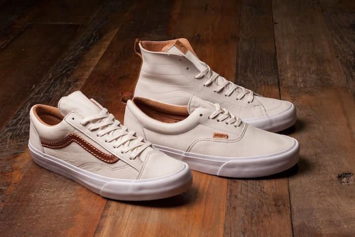 vans-authentic-era-lo-cuir-blanc-beige-marron-serie-limite-sneakers-homme-femme-sk8-skate-old-skool