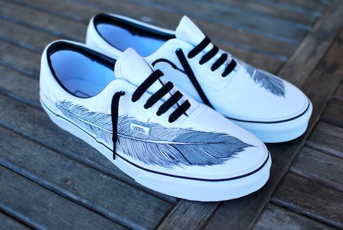 chaussure vans fleurie femme