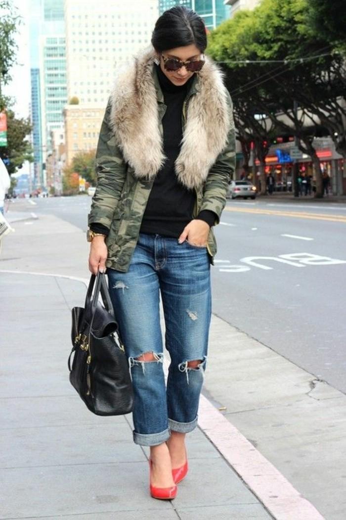 veste-camouflage-femme-hiver-col-fourrure
