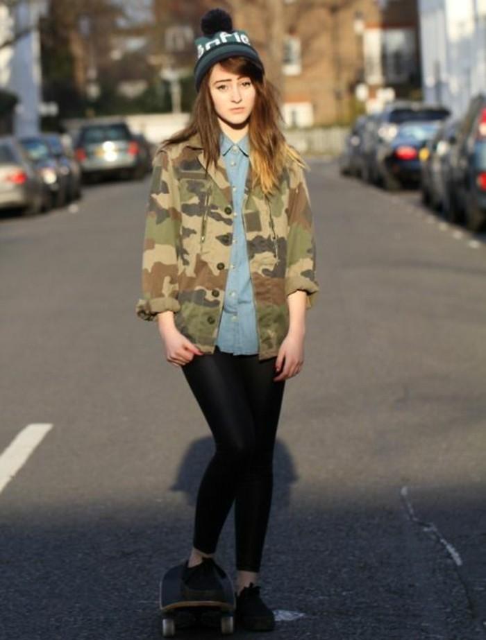 veste-camouflage-femme-look-skateur