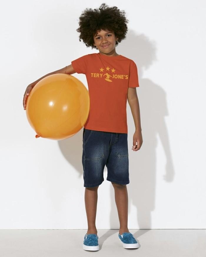 vetement-de-sport-enfant-tery-jones-t-shirt-jaune-aux-manches-courtes-resized