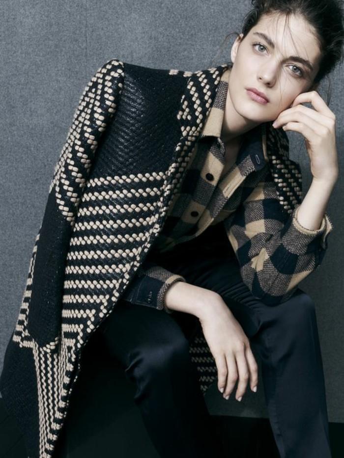 elegant-manteau-droit-femme-tendance-noir-et-blanc