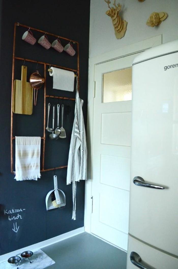 equipement-cuisine-moderne-porte-ustensile-en-tube-de-cuivre