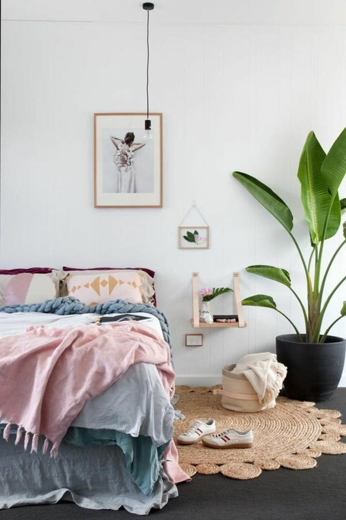 0-chambre-complete-adulte-couverture-de-lit-colore-plante-verte-d-interieur