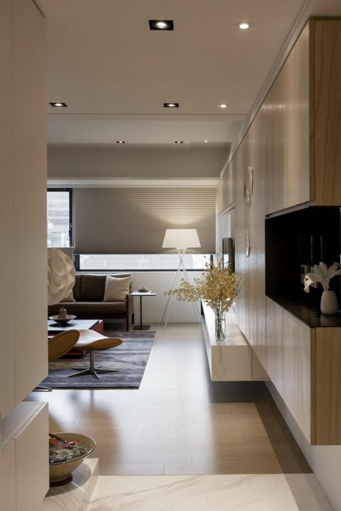 1-amenager-salon-salle-a-manger-idee-deco-salon-couleur-taupe-tapis-noir-lampe-de-lecture