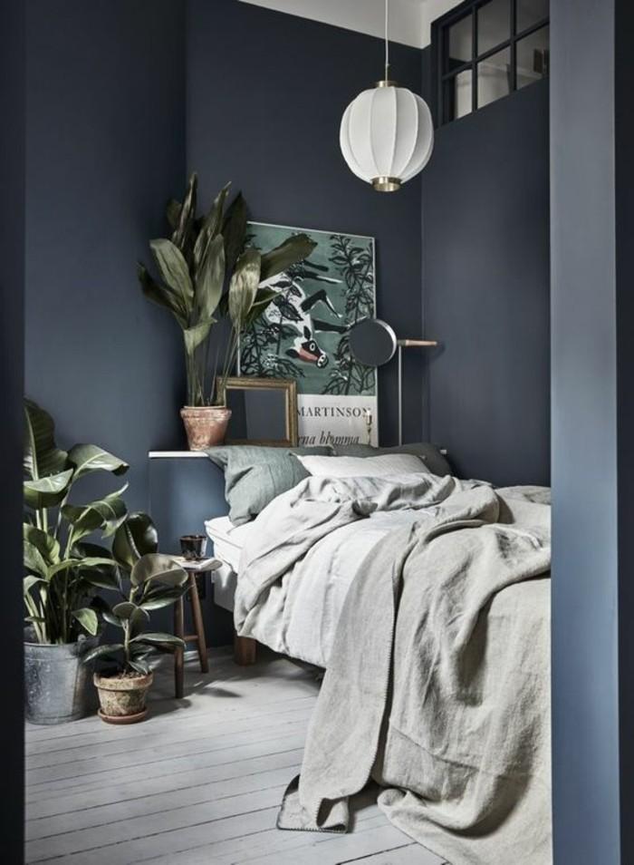1-chambre-a-coucher-pas-cher-design-gris-plante-verte-d-interieur-la-plus-belle-chambre-du-monde