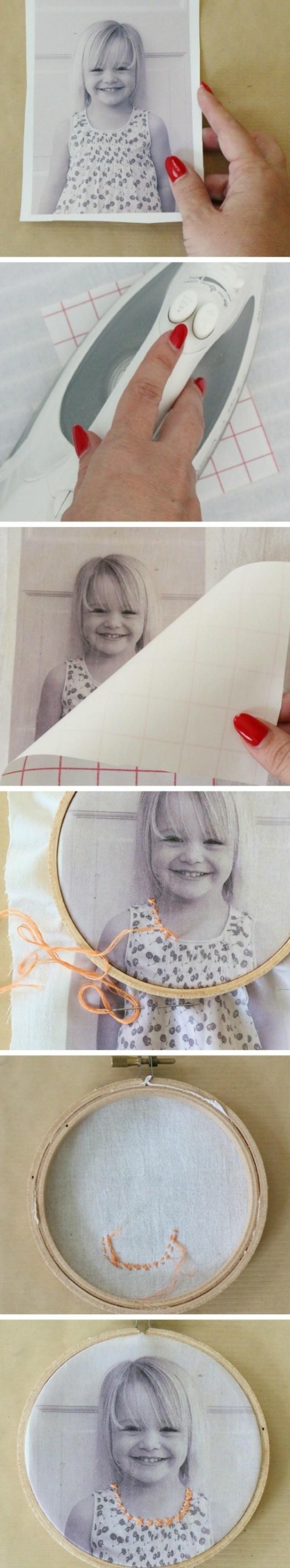 cadre-photo-avec-decoration-en-broderie-fabriquer-un-cadre-photo-personnalise-rond-en-bois