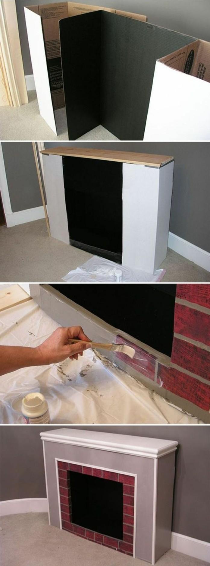 fausse chemin e d corative en bois fashion designs. Black Bedroom Furniture Sets. Home Design Ideas