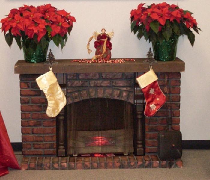 Cheminee Decorative En Carton De Noel