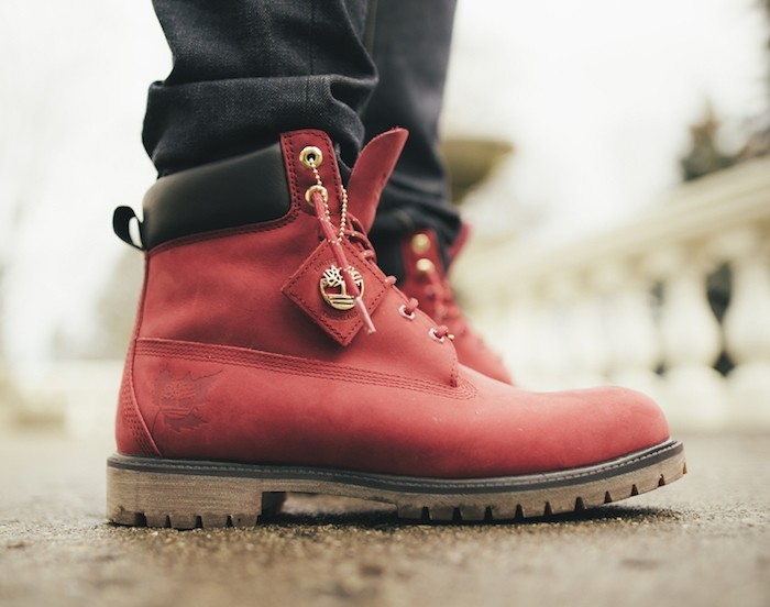 timberland rouge et blanche homme
