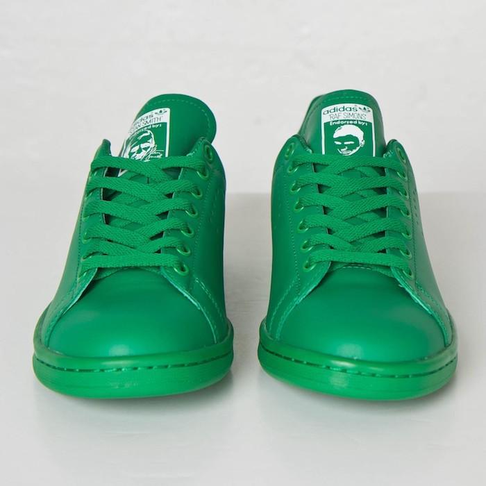 adidas-raf-simons-stan-smith-vert-cuir