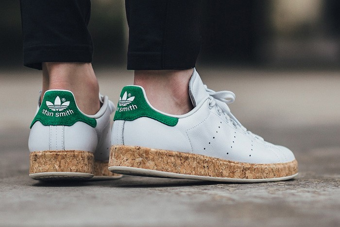 meet 02e91 15855 adidas-stan-smith-cork-originales-cuir-blanc-vert-