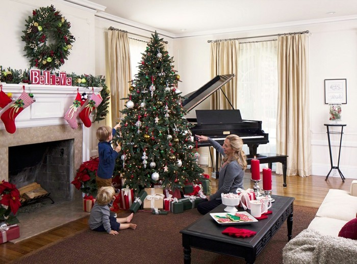 adorable-deco-agremeable-decoration-sapin-de-noel-belle-maison-enfant