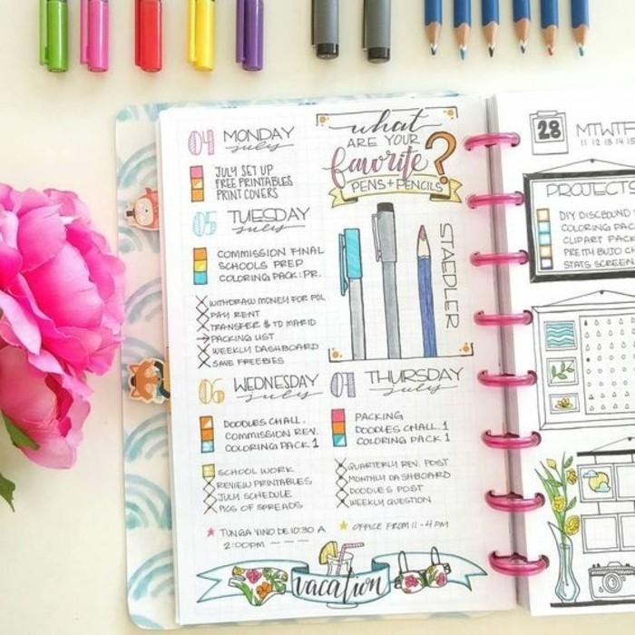 Comment organiser et customiser son agenda 62 id es diy - Comment customiser un classeur ...