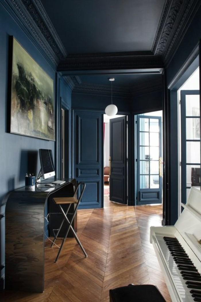 amenager-une-chambre-en-longueur-bureau-domicil-bien-amenage-style-retro-chic