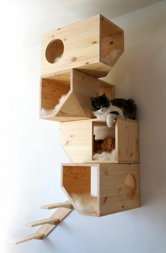arbre-a-chats-quatre-niches-avec-une-echelle-maisons-pour-chats