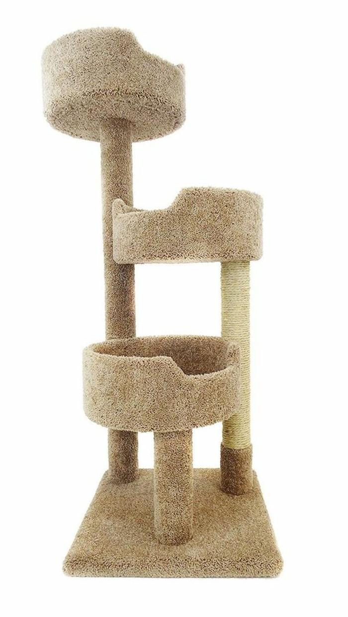 arbres-a-chats-arbre-a-chat-couleur-creme-trois-niches