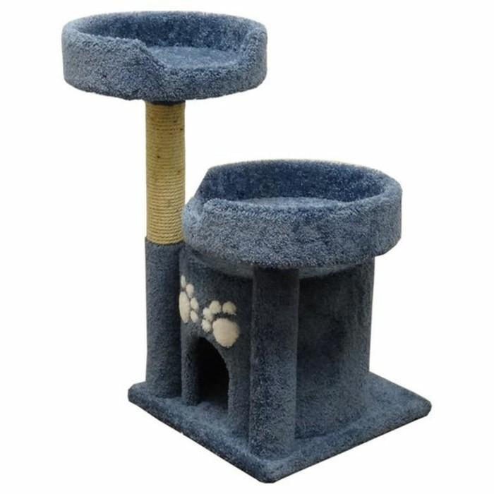 arbres-a-chats-deux-lits-pour-chat-en-hauteur-arbre-bleu