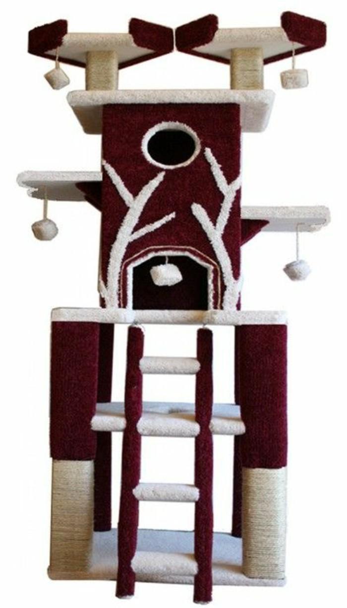 arbres a chats etagere pour chats avec maisons - Arbre A Chat Maison