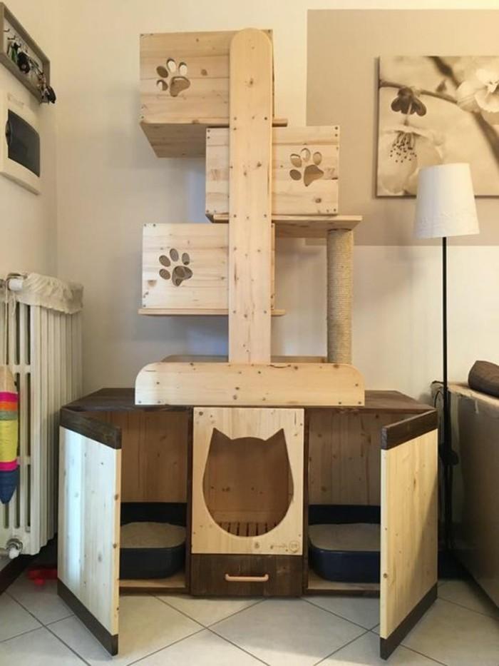 arbres-a-chats-lits-pour-chat-etagere-chats-en-hauteurdesign-beige