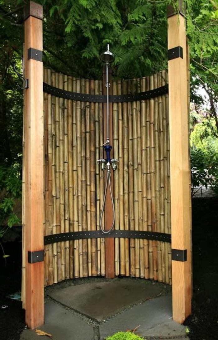 Que faire avec des bambous trouvailles exotiques en 60 photos - Construire douche exterieure ...