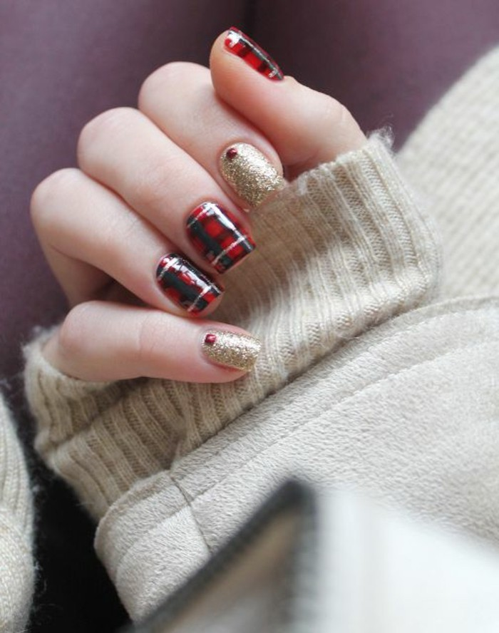 beau-nail-art-noel-facile-manicure-noel-hiver-modele-nail-art-manucure-noel-festive