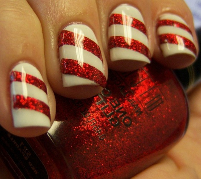 belle-idee-nail-art-hiver-ongles-pour-noel-candy-cane