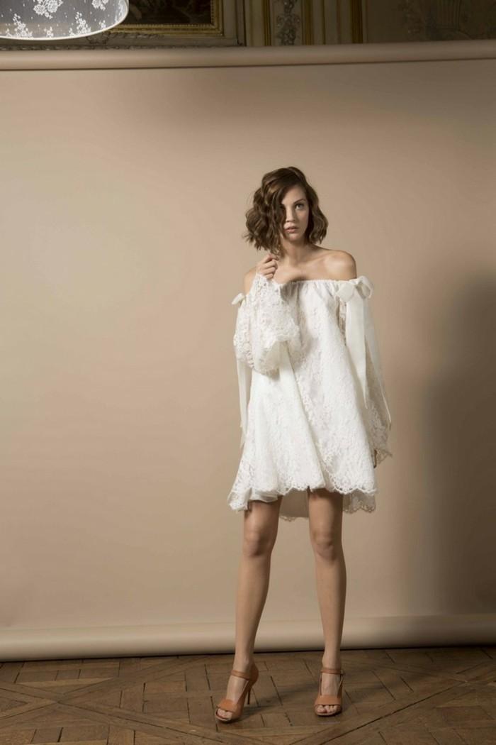 belle-robe-mariee-courte-robe-de-mariee-courte-chic-avec-manches