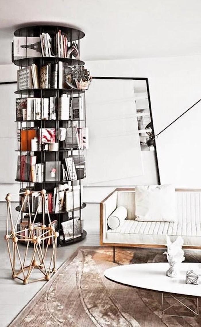 bibliotheque-circulaire-caroussel-design-etagere-colonne-meuble-bas-de-rangement