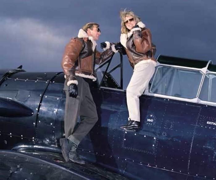 blouson-aviateur-homme-femme-cuir-bombardier-bombers-marron-laine