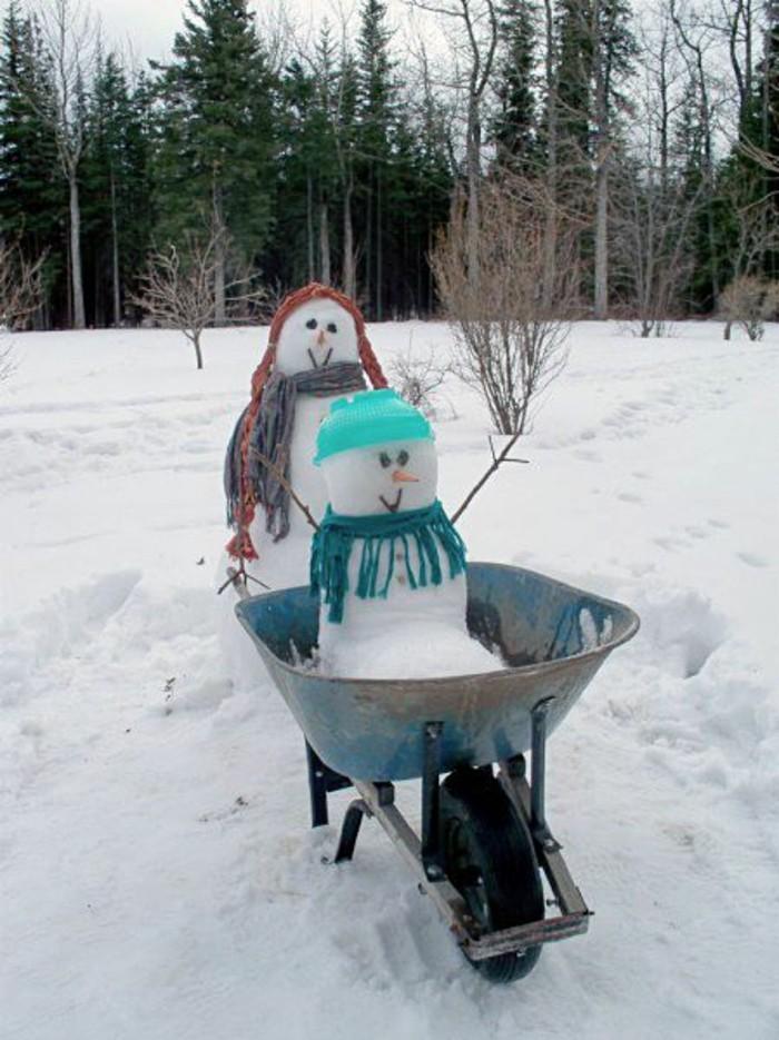 bonhomme-de-neige-a-fabriquer-cool-idee-activite-dehors-voir-fete
