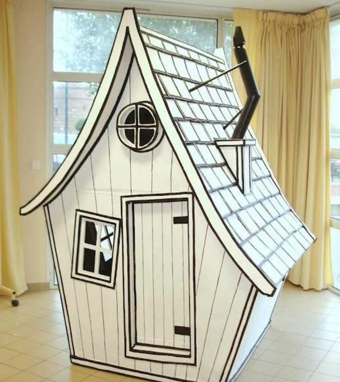 Comment fabriquer une cabane en carton tuto et plusieurs mod les - Comment construire une maison en carton miniature ...