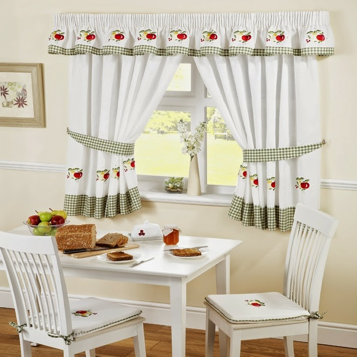 trendy with coudre des rideaux de cuisine. Black Bedroom Furniture Sets. Home Design Ideas