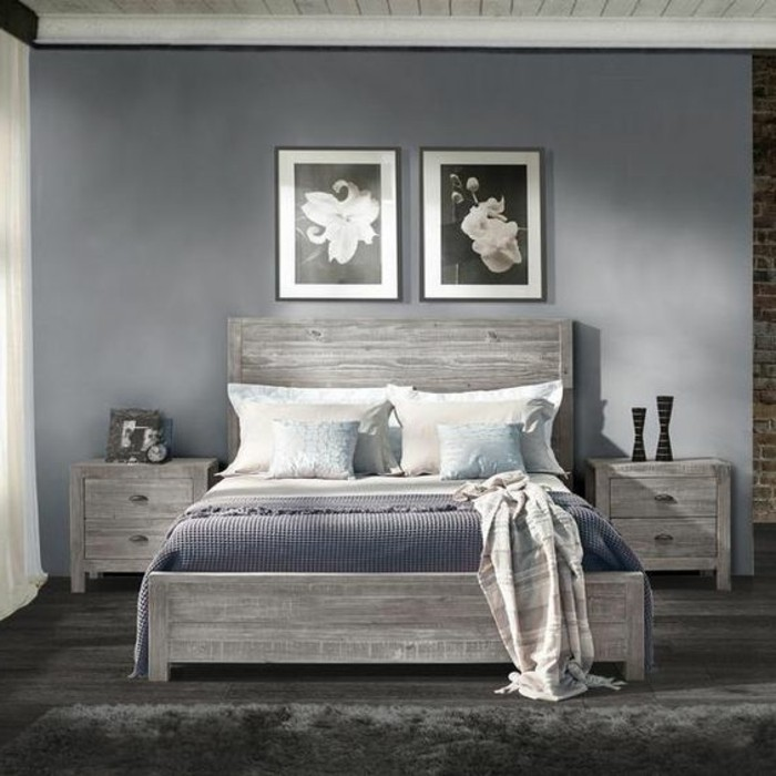 Chambre parquet gris fonce design de maison - Chambre gris fonce ...