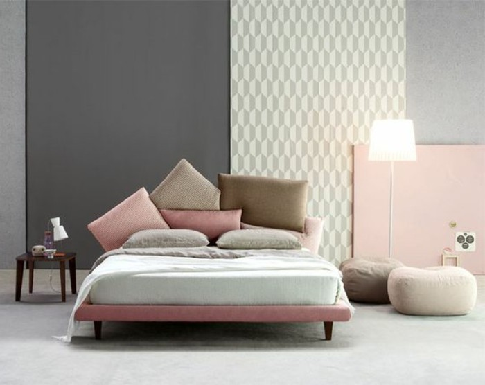 peinture pastel chambre adulte id e inspirante pour la conception de la maison. Black Bedroom Furniture Sets. Home Design Ideas