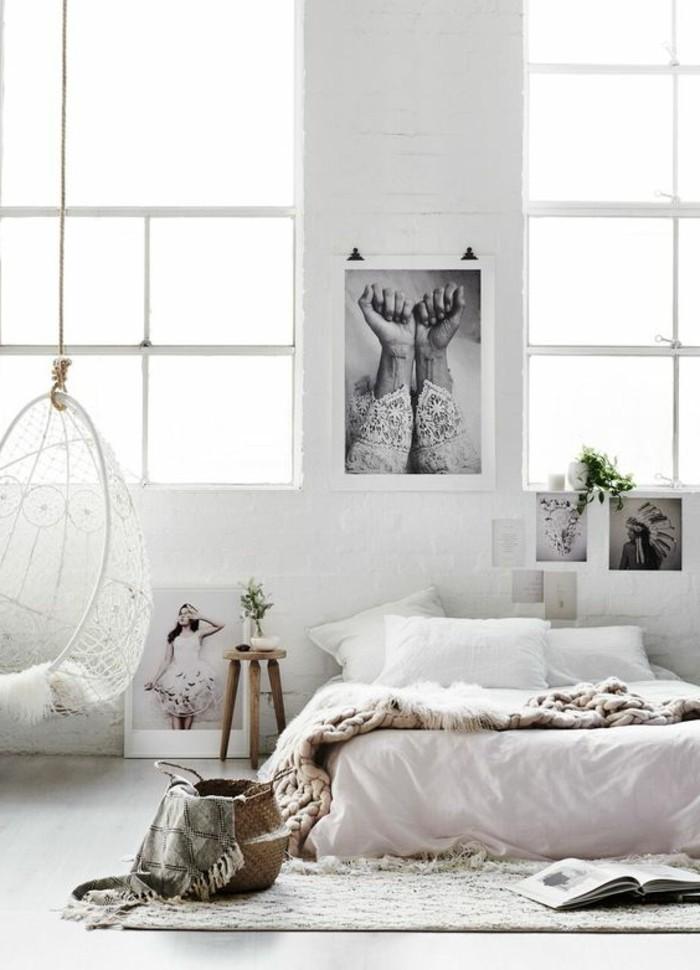 Chambre Scandinave Blanche - Maison Design - Afsoc.us
