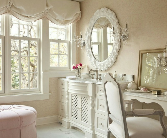 emejing salle de bain romantique blanche images amazing house design. Black Bedroom Furniture Sets. Home Design Ideas