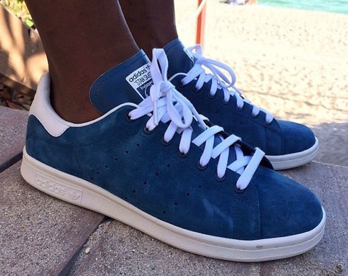 stan smith bleu marine daim