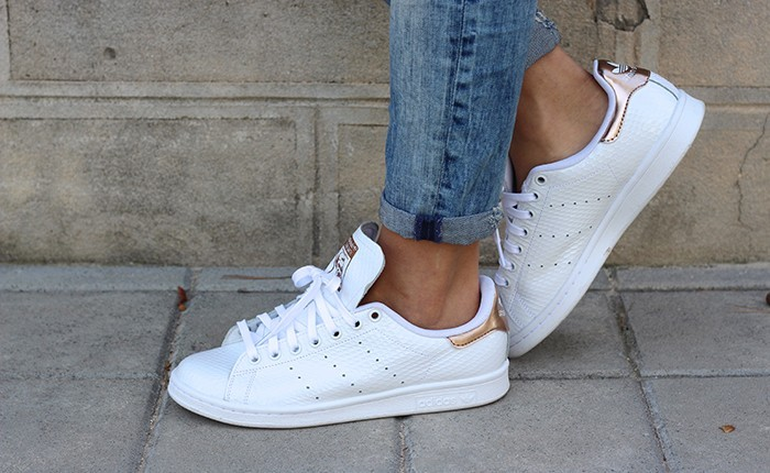 Stan Smith Doré Et Blanc