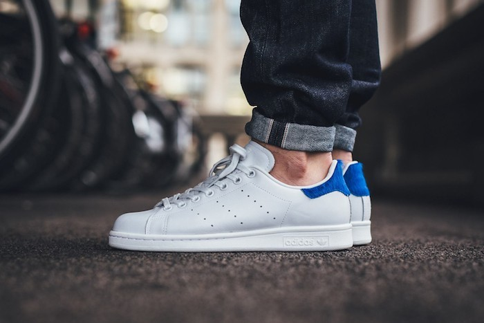 huge discount d5c11 ee7f3 chaussures-homme-adidas-stan-smith-gris-bleu-blanc