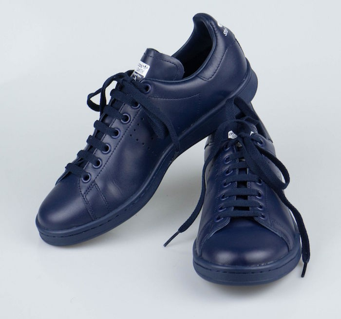 the latest ebb3d 65eb1 ... chaussures stan smith femme bleu marine cuir raf simons