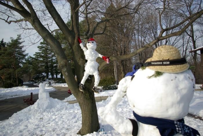 chouette-deco-noel-bonhomme-de-neige-comment-faire-un-bonhomme-amusante